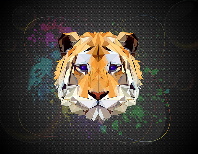 Illustration d'une tête de tigre